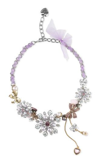 Betsey Johnson Snowflake Necklace