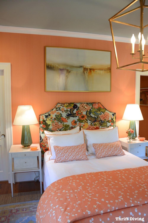 orange wall art for bedroom