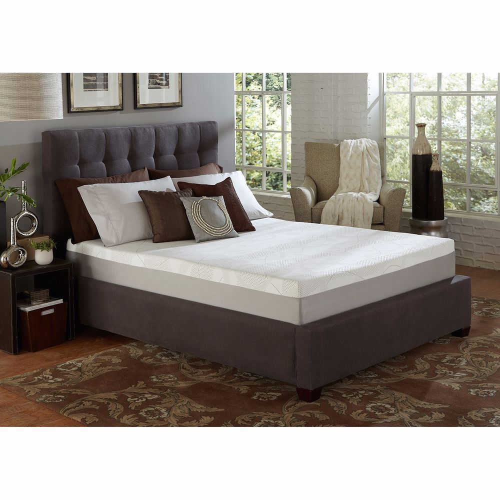 Twin Size Mattress Set Thick Foam Bed Room Cover Futon Topper Frame Tab