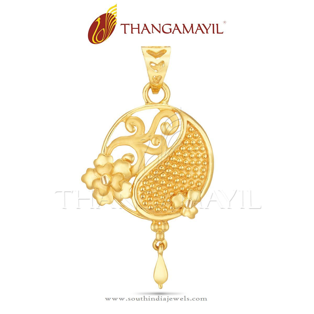 Simple Gold Pendant from Thangamayil Jewellery | Gold pendant ...
