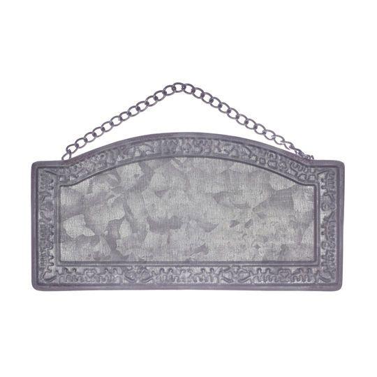 Dark Gray Rectangular Stamp Metal Plaque By ArtMinds™