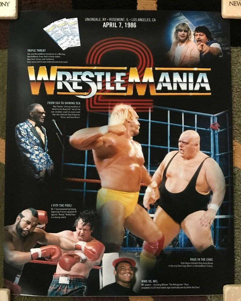 WrestleMania: WWE WWF Wrestlemania 2 Poster 16x20 #Wrestling #WWE #WWF
