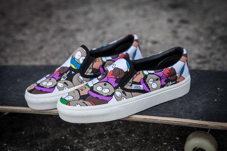Vans Vans Summer New Canvas Shoes Lazy Set Southern Park Cartoon Animation  Series Black Violet Model vans-063 Code Number 35-4413  Vans 2ef1ace80