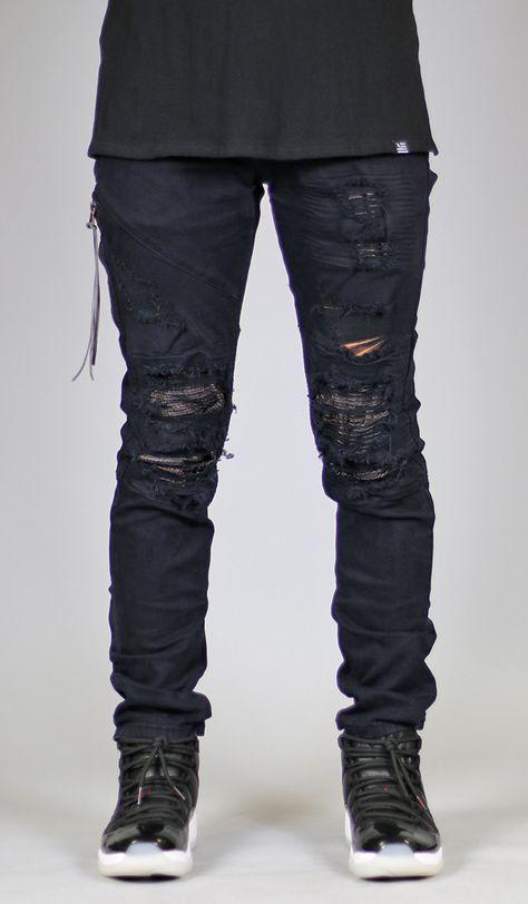 1e4d66a5d Black Lozy Jean in 2019 | Menswear | Stylish mens outfits, Ripped jeans  men, Denim pants