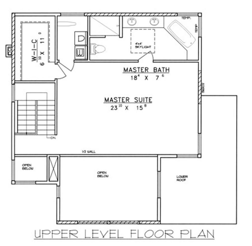 Plano nivel superior casa moderna 2 planos de casas for Hacer plano vivienda