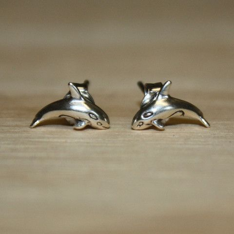 Silver Orca Earrings | The Whale Museum