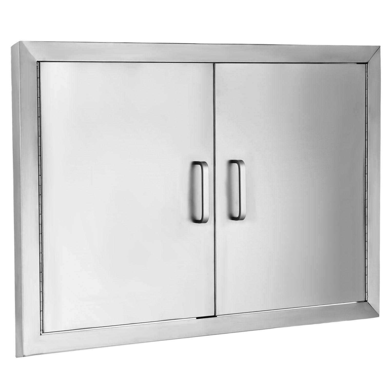 Vevor Bbq Door 304 Commercial Grade Stainless Steel Doors 31 X24 Double Access Door Vertical Rust Re Stainless Steel Doors Outdoor Kitchen Stainless Steel Bbq