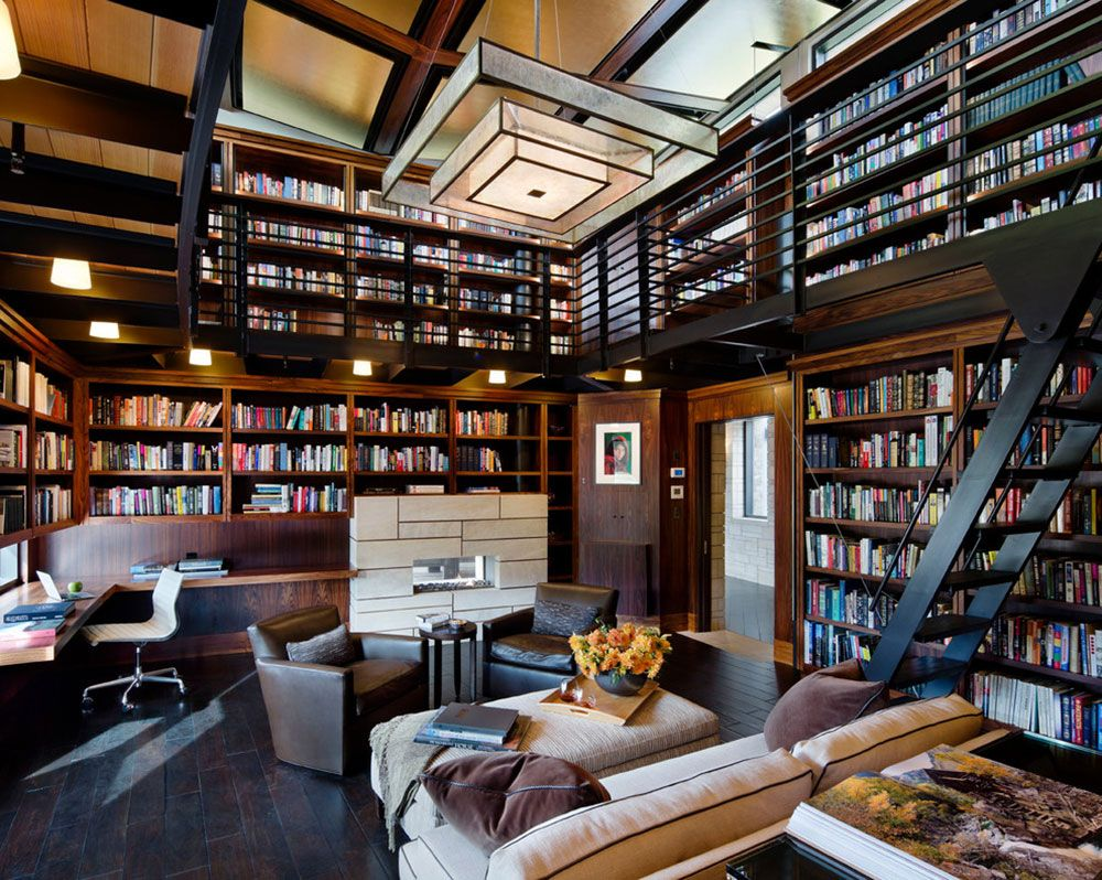 creating a home library design will ensure relaxing space - Library Furniture Home