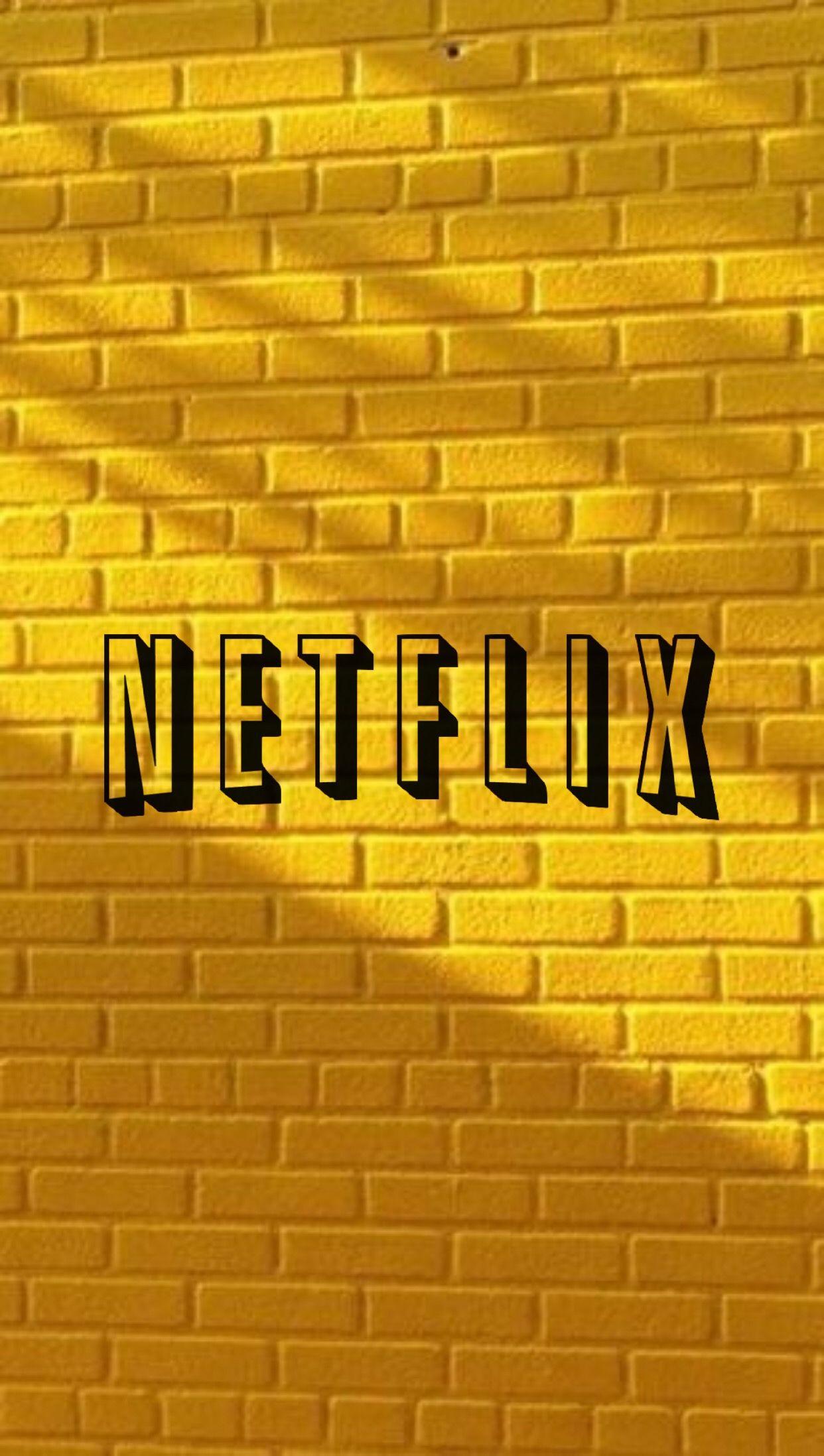 Netflix Logo Aesthetic Yellow