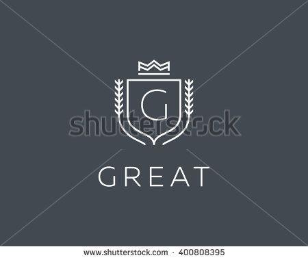 Premium monogram letter G initials ornate signature logotype - best of luxury invitation vector