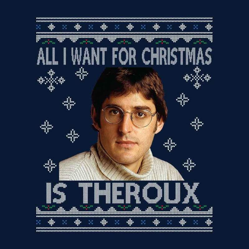 1c0be2719b16 All I Want For Christmas Is Louis Theroux Knit Pattern Men's T-Shirt ...