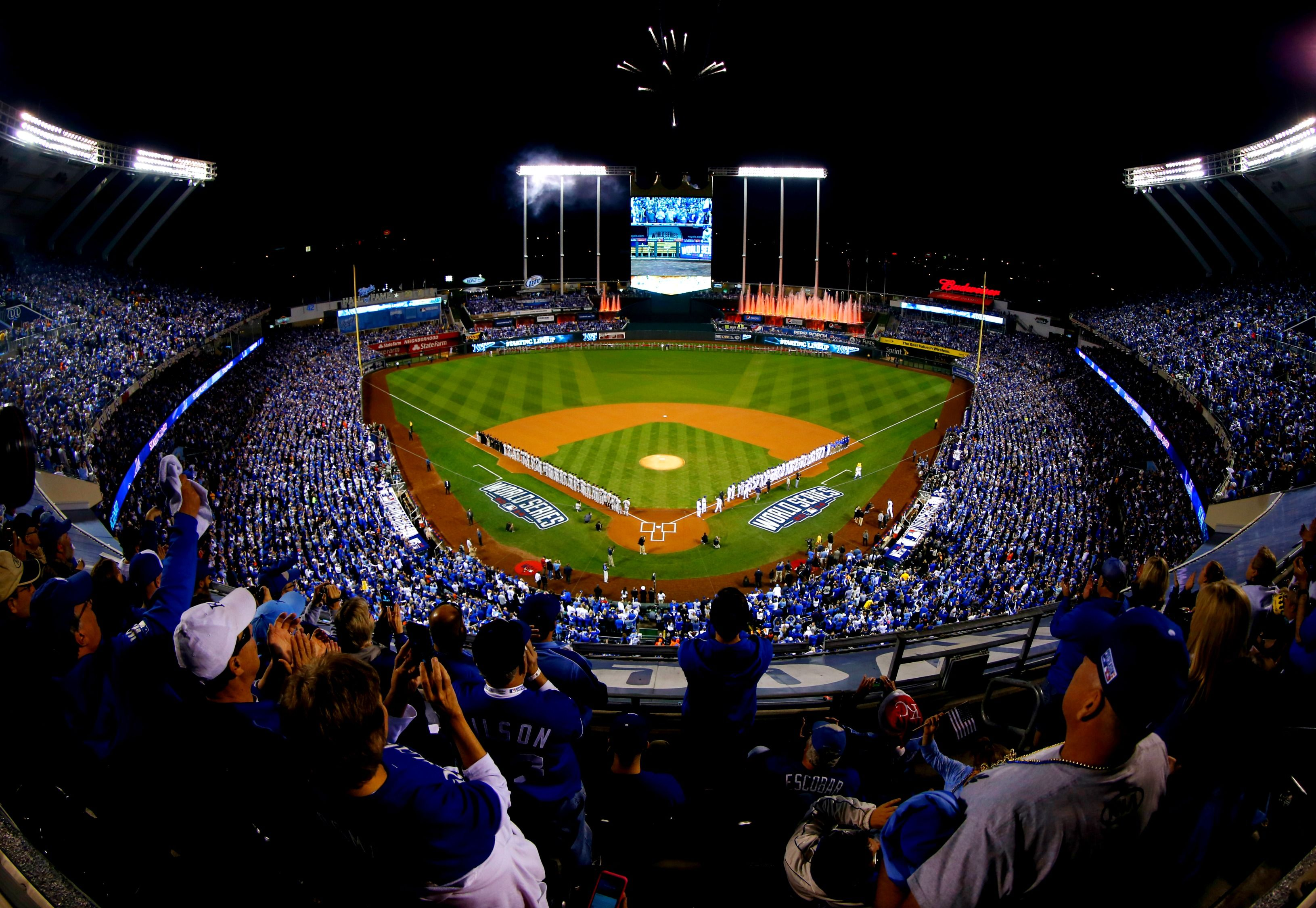It was a sea of blue last night at Kauffman for Game 1. We