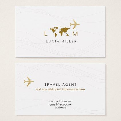 Chic Business Card For A Travel Agent Zazzle Com With Images