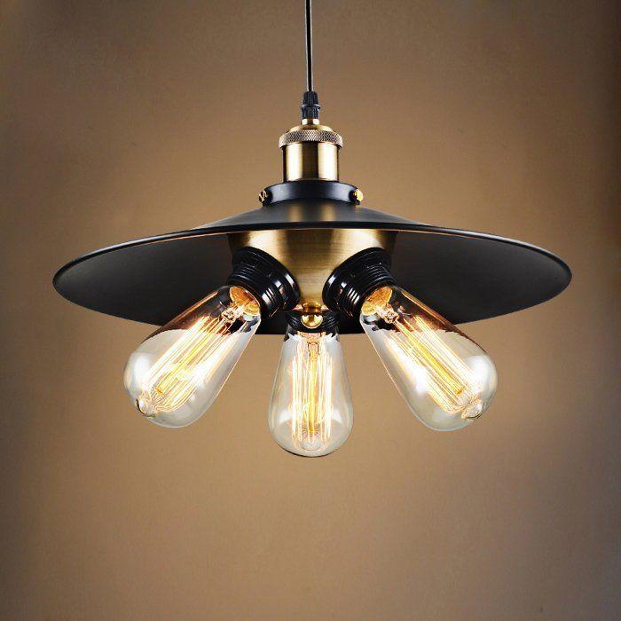 Photo of Edison light bulb chandelier lamp black color pendant lamp
