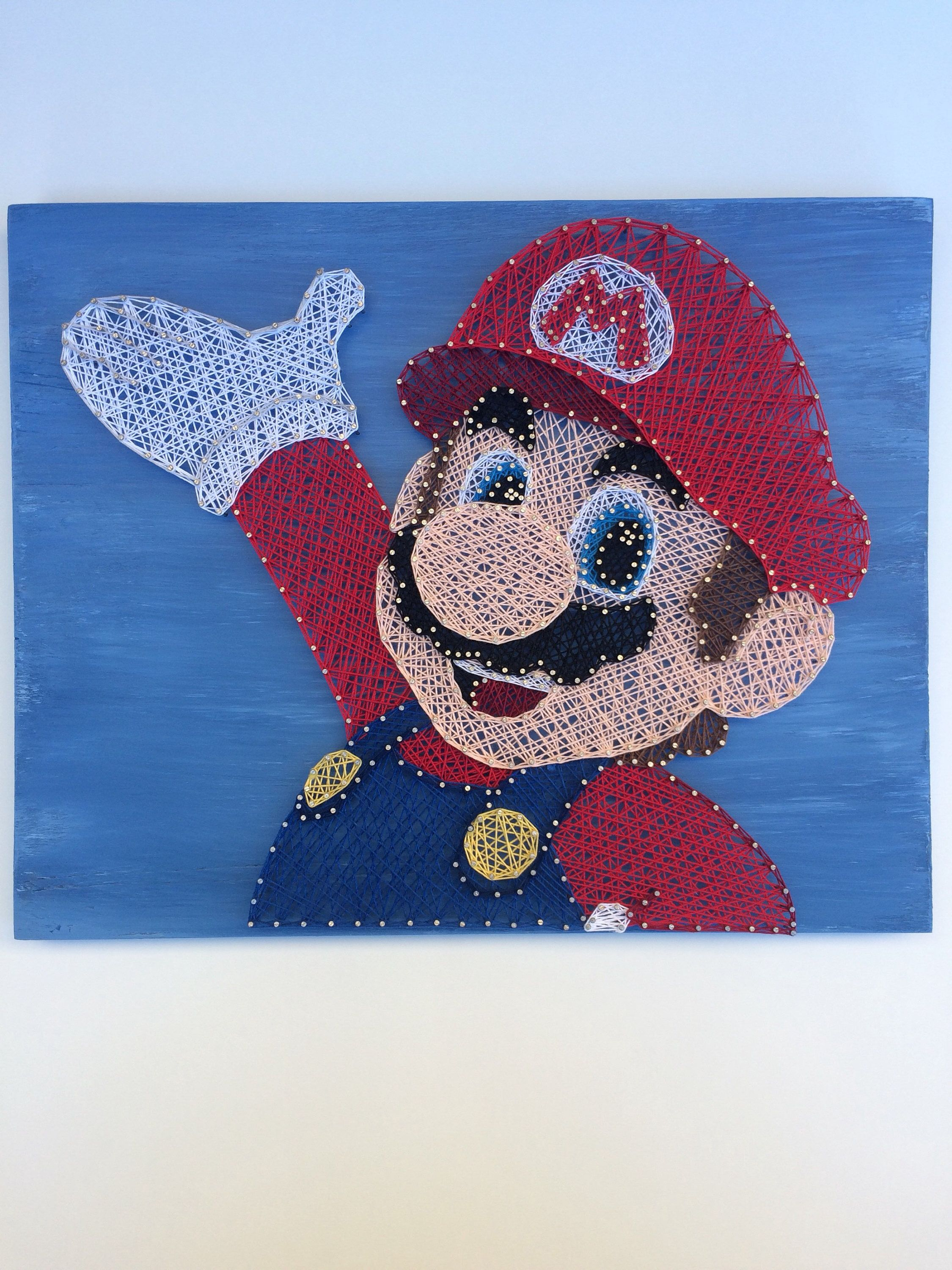String Art  Super Mario Brothers  Nintendo  Gamer