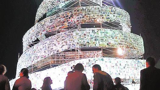 Torre de Babel. Marta Minujin