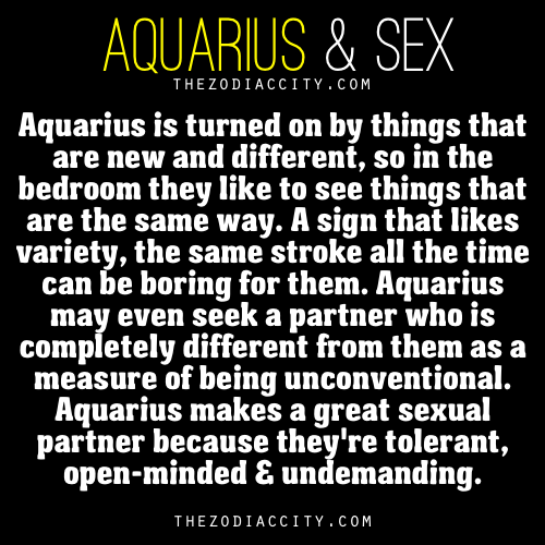 Aquarius woman sexuality traits