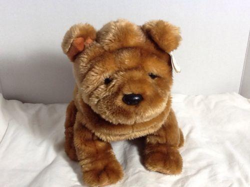 SHARPEI-DOG-TY-2004-CLASSIC-STUFFED-PLUSH-SHANTOU-RETIRED-NWT-soft-amp-cuddly