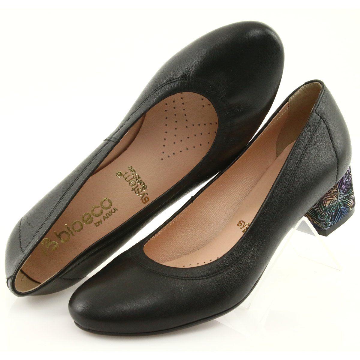 Wygodne Czolenka Damskie Skorzane Arka 5627 Czarne Leather Shoes Woman Shoes Women Shoes