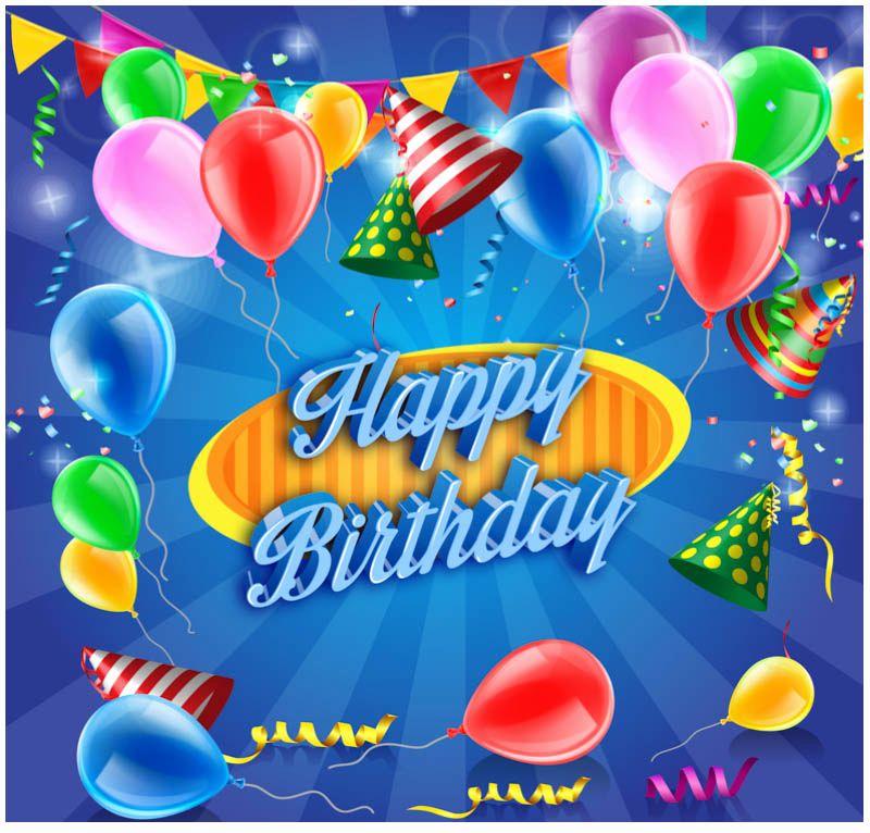 Free Birthday Card Templates New 10 Free Vector Psd Birthday Celebration Greeting Cards Birthday Card Template Happy Birthday Ballons Happy Birthday Template