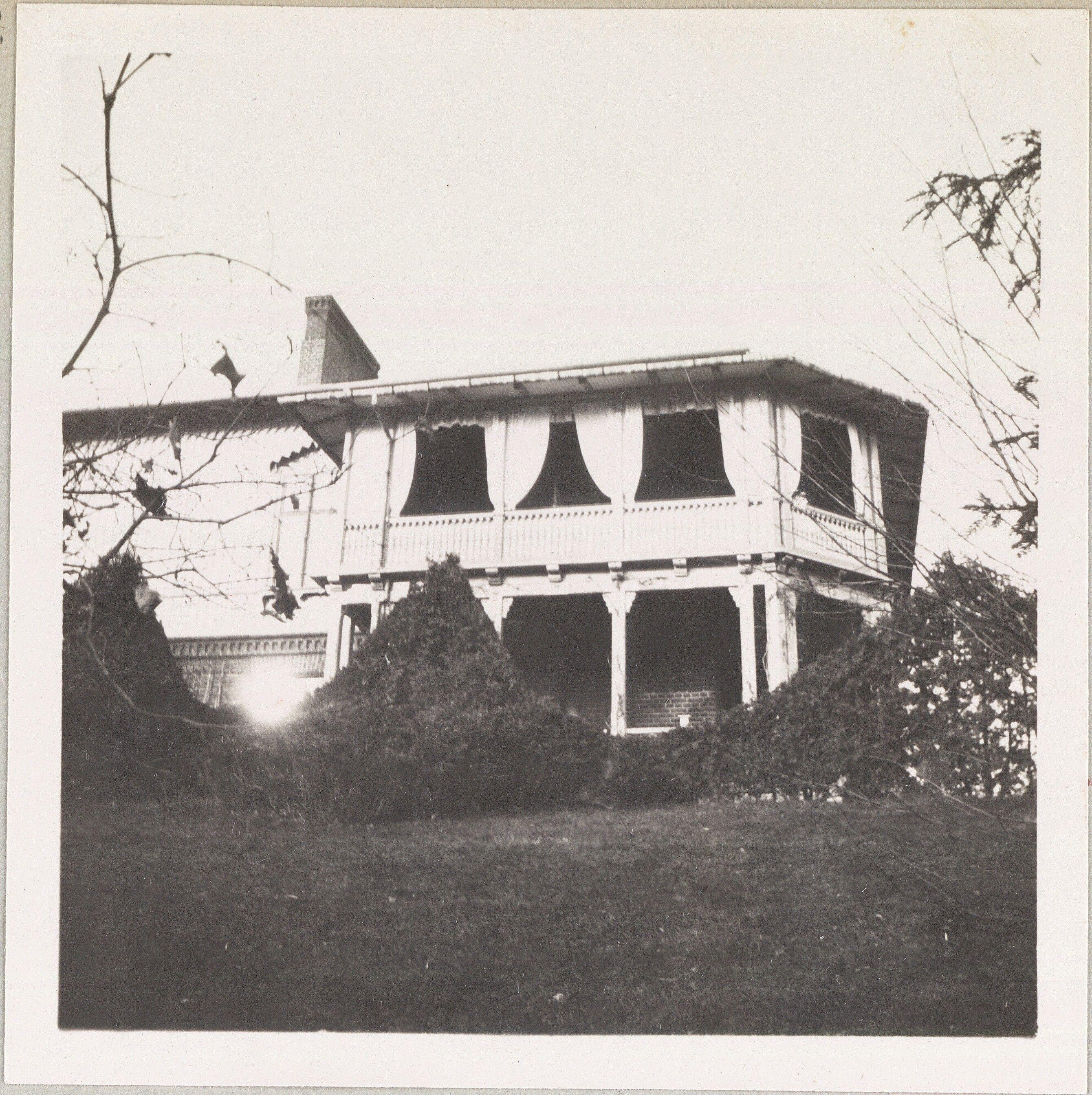 Spala 1912: A varanda em Spala.