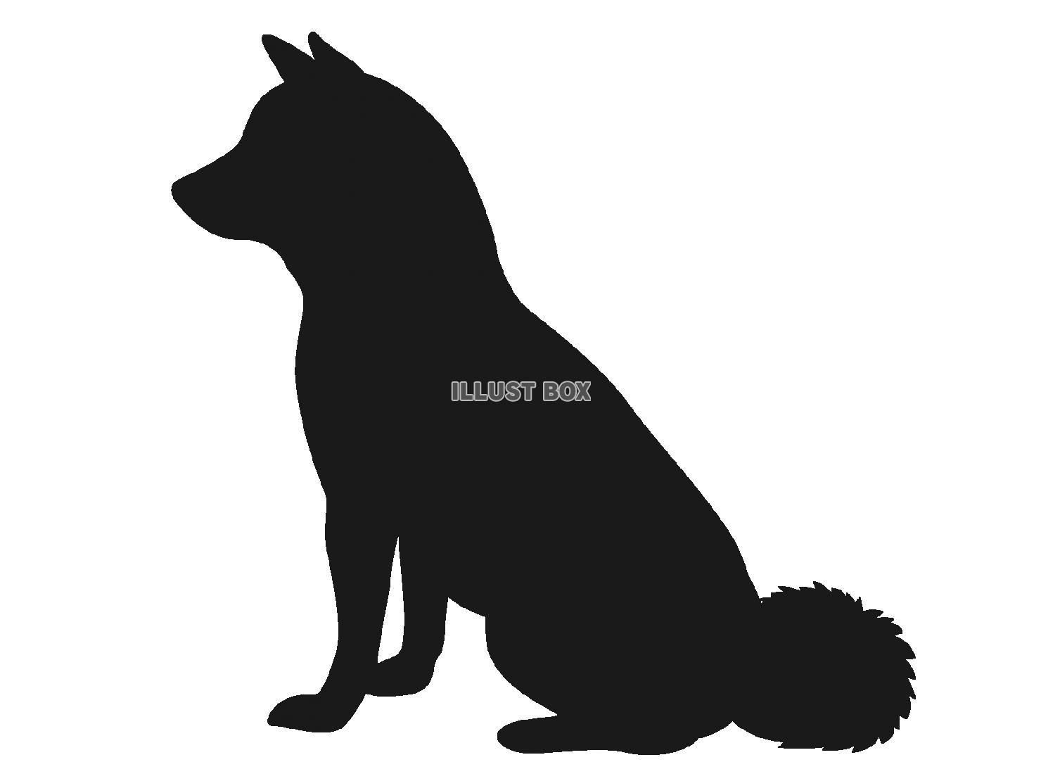 トップセレクション 犬 シルエット イラスト 無料 犬 イラスト