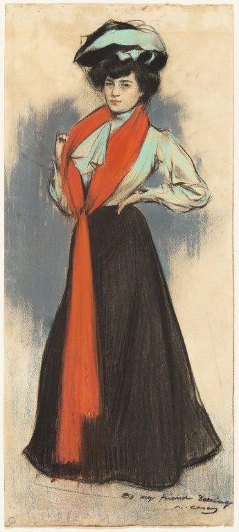 Ramon Casas i Carbó Study of a Standing Woman, 1902