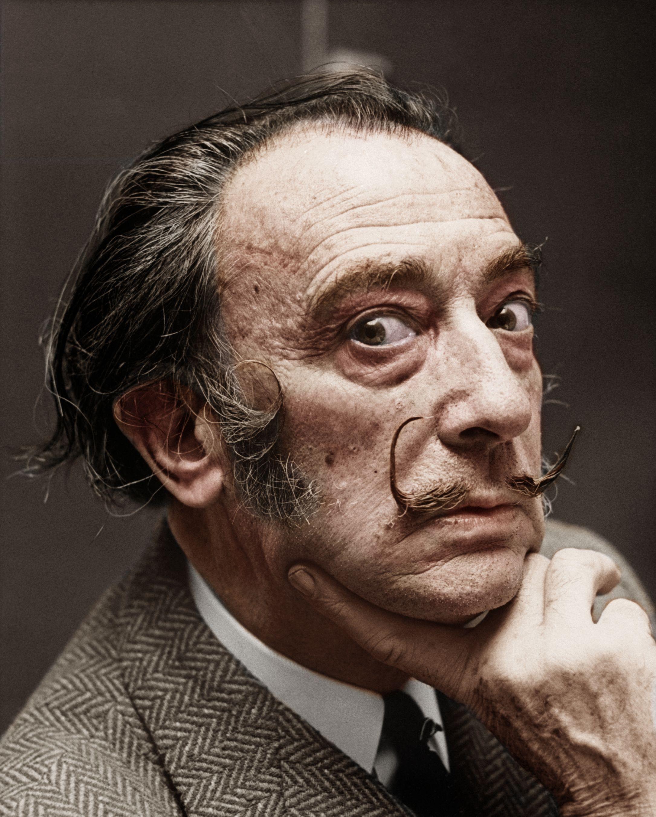 Salvador Dali Colorized Photo
