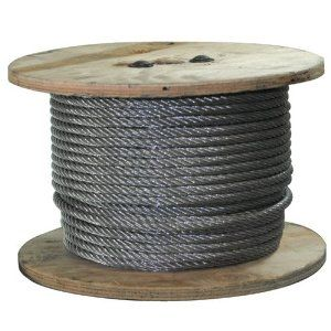 G516150c 250 Ft Of Galvanized Wire Rope 5 16 Inch By Wire Rope 87 49 For More Than 50 Years West Coast Wire Rope Has Been Home Hardware Hardware Trash Can