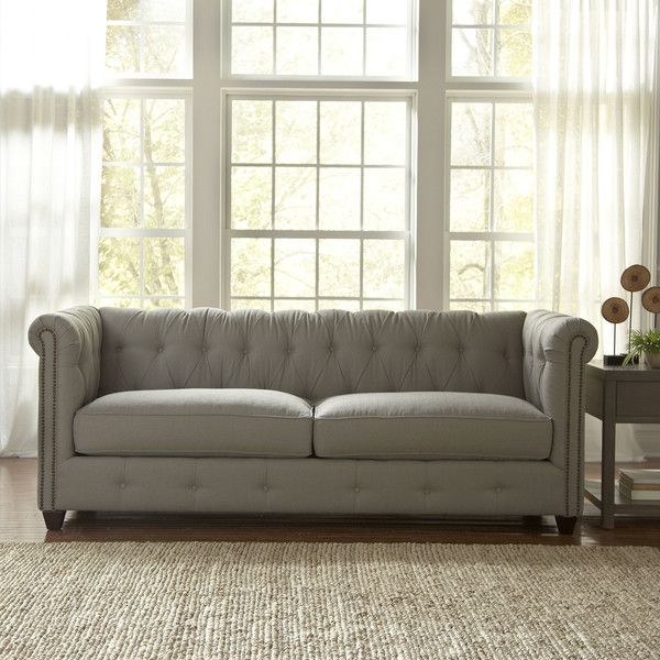 Inspirational Birch Lane Hawthorn Sofa retails for $1300 $1400 depending on fabric choice and it is very similar to the Pottery Barn Upholstered Chesterfield Sofa that Luxury - Simple Elegant fabric chesterfield sofa In 2018