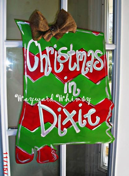 christmas in dixie alabama state wood cut out by thewaywardwhimsy - Christmas In Dixie