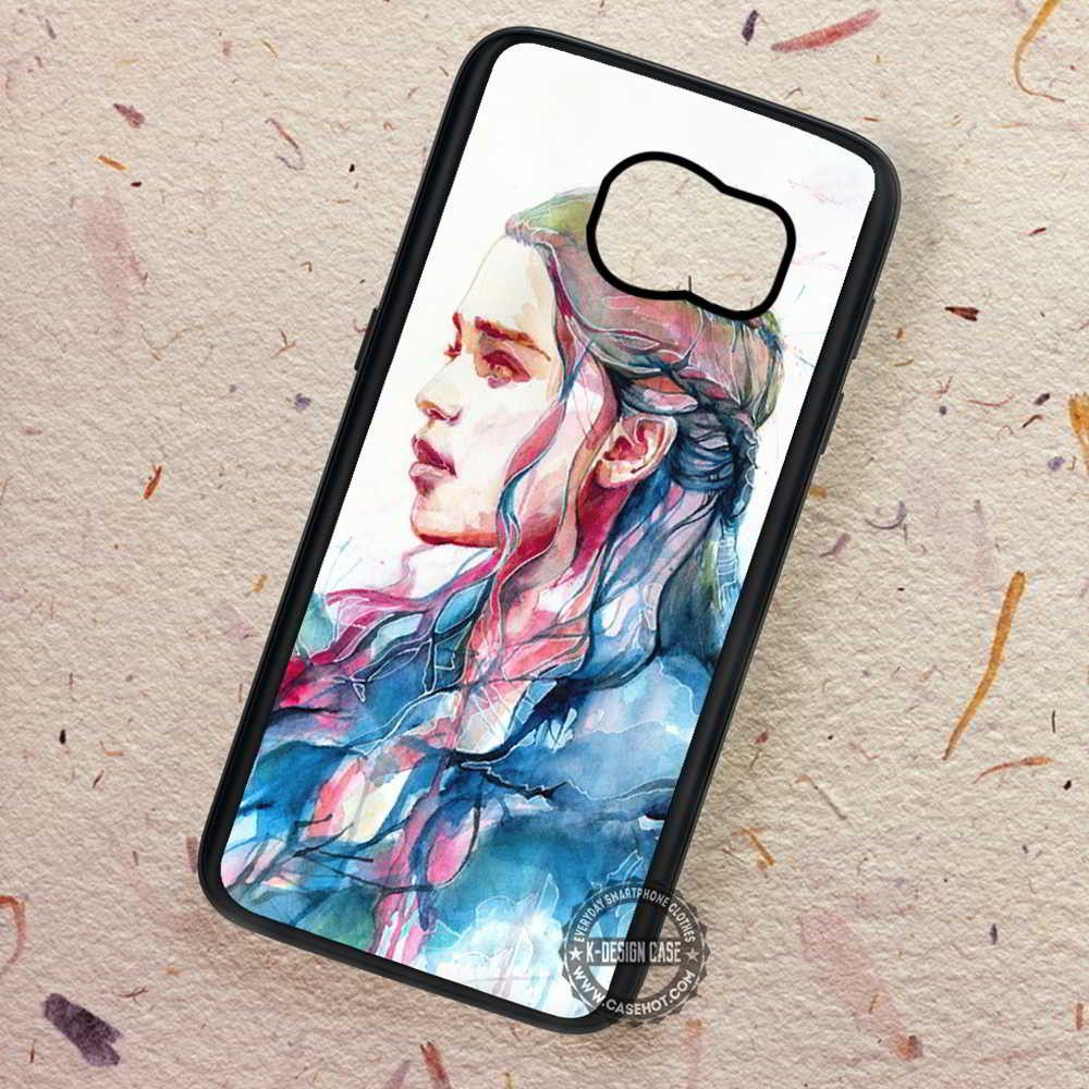 Water Color Daenerys Targayen Game of Thrones - Samsung Galaxy S7 S6 S5 Note 7 Cases & Covers