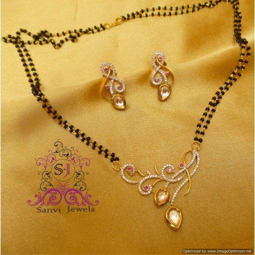 Designer Fusion Kundan Mangalsutra | Jewellery | Pinterest ...
