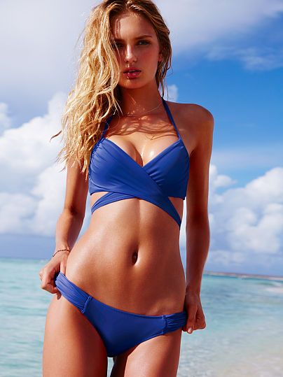 181b3cdeb67fb Best Swimsuits For Large Bust. The Wrap Halter - Victoria s Secret