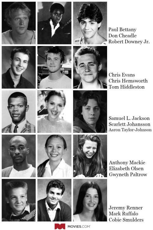 If the cast of the Avengers went to the same high school, this is what they'd look like.