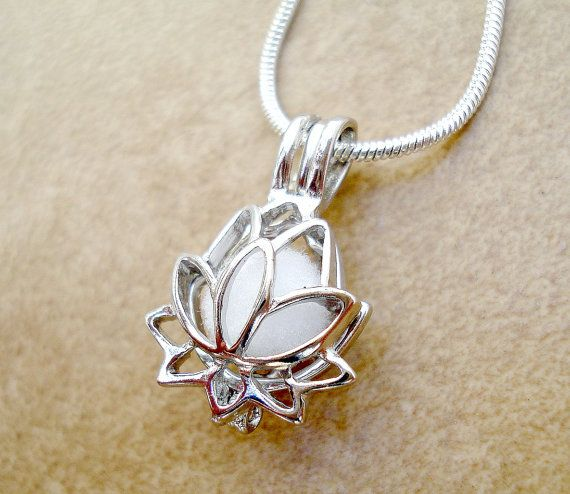 Lotus flower aromatherapy necklace silver plated lotus flower lotus flower aromatherapy necklace silver plated lotus flower essential oil diffuser aromatherapy personal aloadofball Gallery