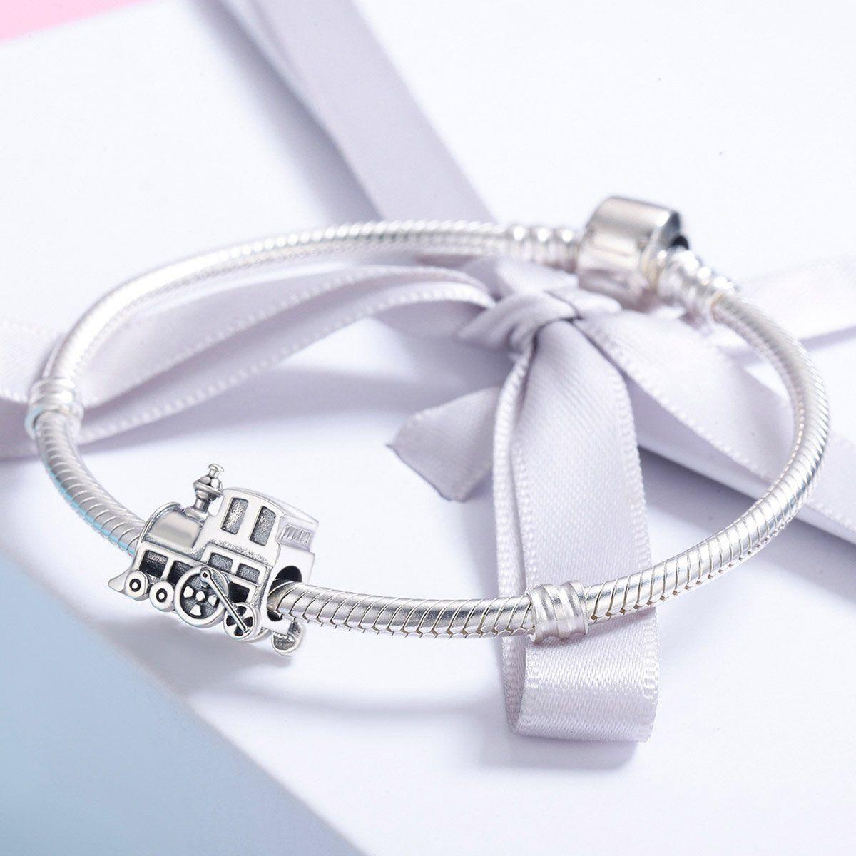 Everbling NO LOGO Open Bangle 925 Sterling Silver Charm Bracelet