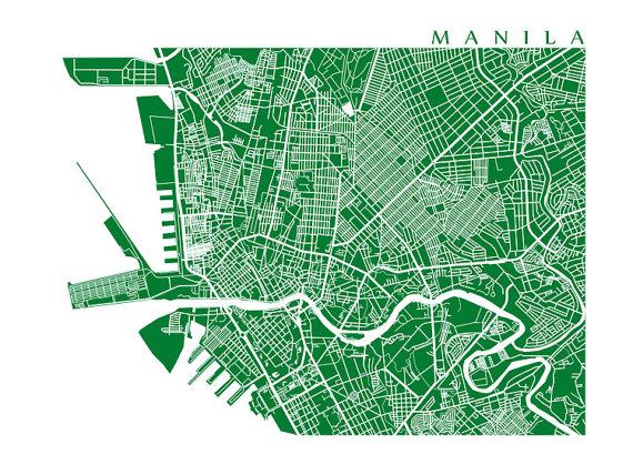 Manila map philippines art poster print choose by cartocreative manila map philippines art poster print choose by cartocreative publicscrutiny Images