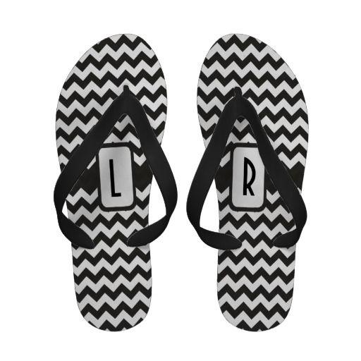 dc24fb7abff Monogram Flip flop Sandals  Black