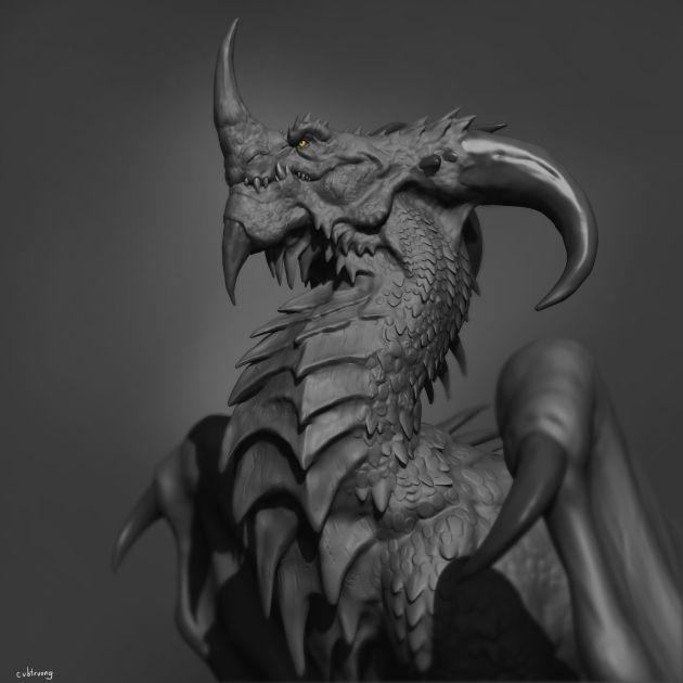 dragon speed sculpt – sculpt based on a concept of LD Austin