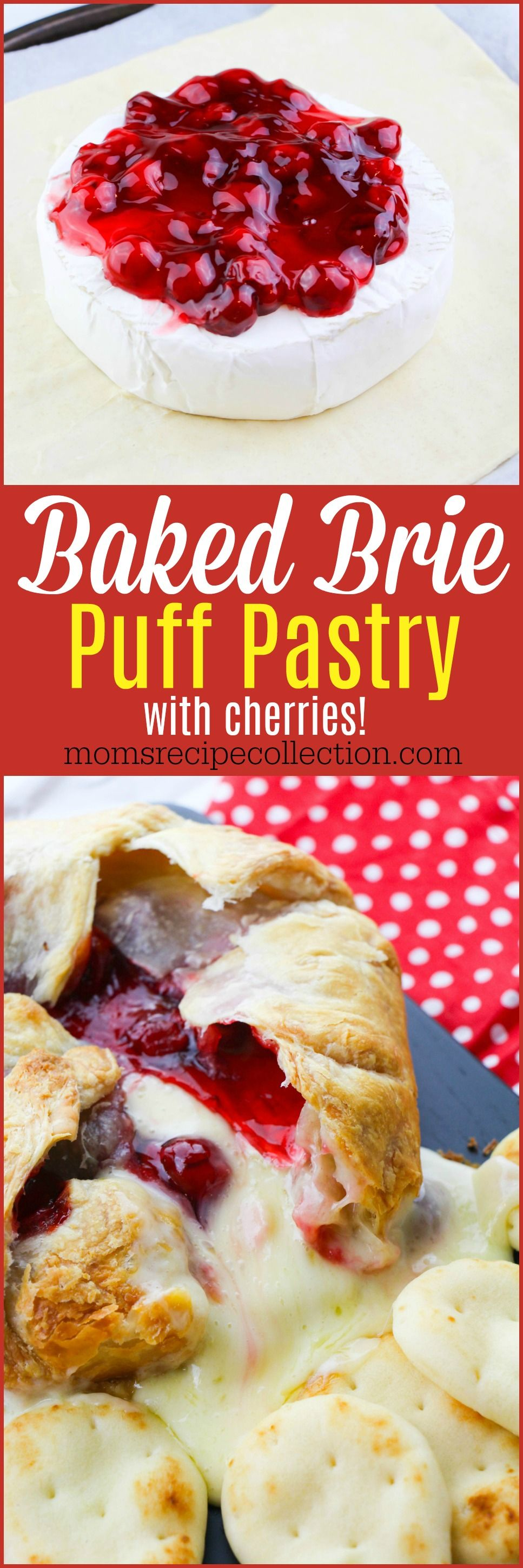 Find the recipe for Baked Brie Puff Pastry with Cherries on Pinterest and pin it! Yum. #recipeforpuffpastry