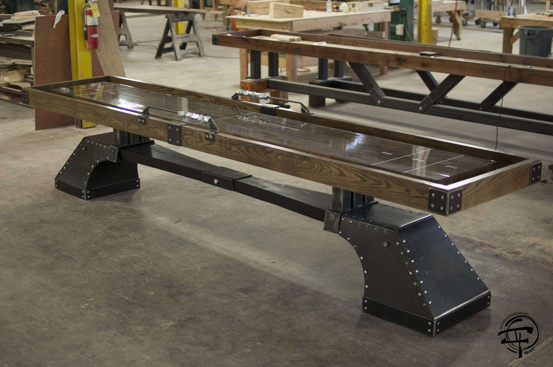 Shuffleboard pin nueve table 39 s muebles de metal for Muebles industriales metal baratos