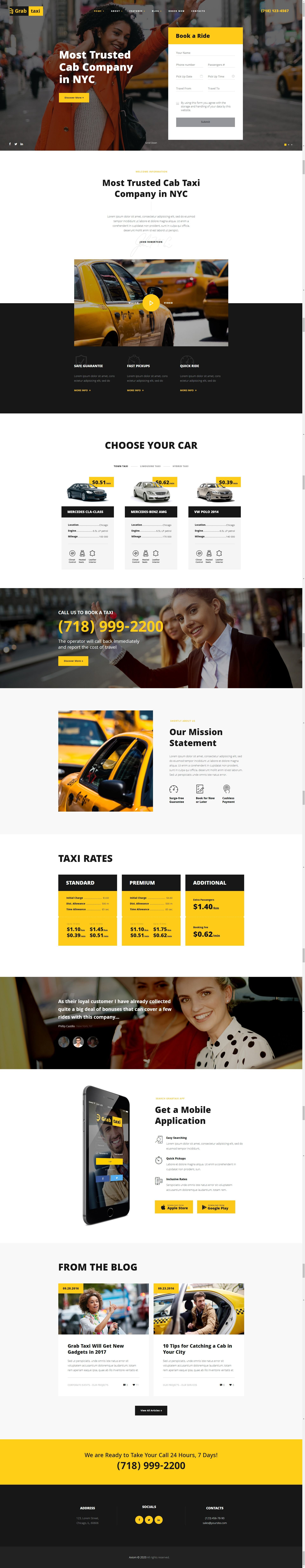 Grab taxi online taxi service wordpress theme stylelib