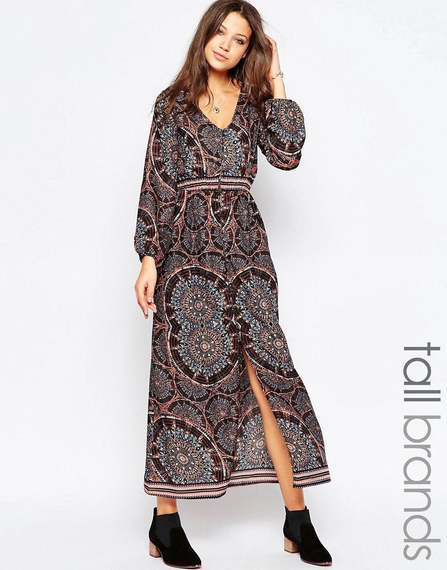 Influence Tall Long Sleeve Boho Maxi Dress At Asos Com Long Sleeve Boho Maxi Dress Boho Maxi Dress Long Sleeve Boho Dress [ 1110 x 870 Pixel ]
