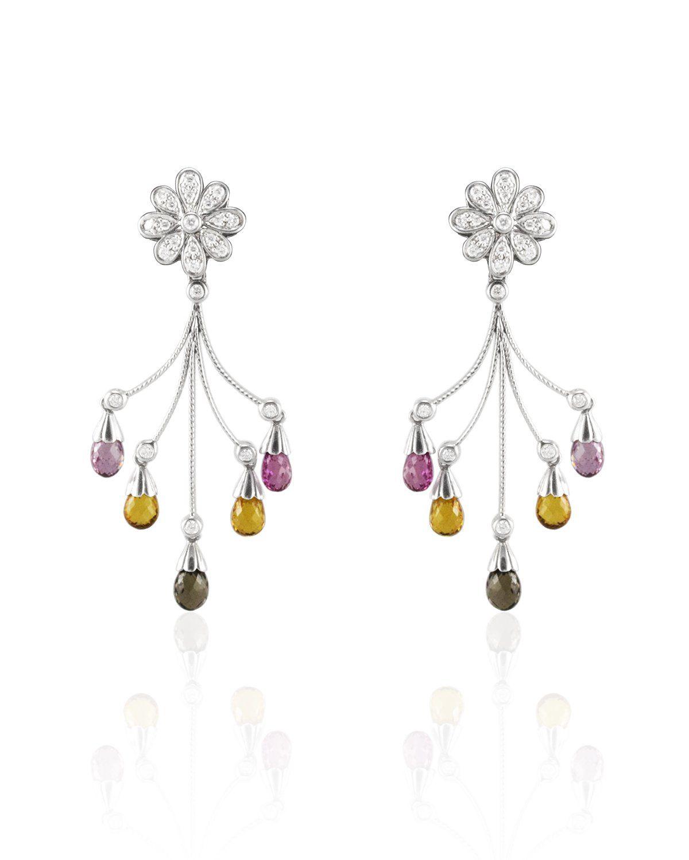 Briolette sapphire and diamond fashion earrings sapphire and products briolette sapphire and diamond fashion earrings arubaitofo Choice Image