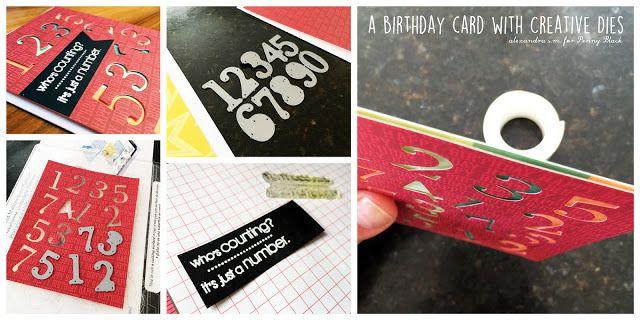 art scrap & more: alexandra's Sunday scrapbooking - a BDay Card with…