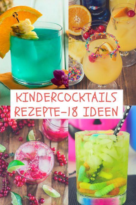 Kindercocktails Rezepte - 18 Ideen für fruchtige & kühlende Sommerdrinks #interessen