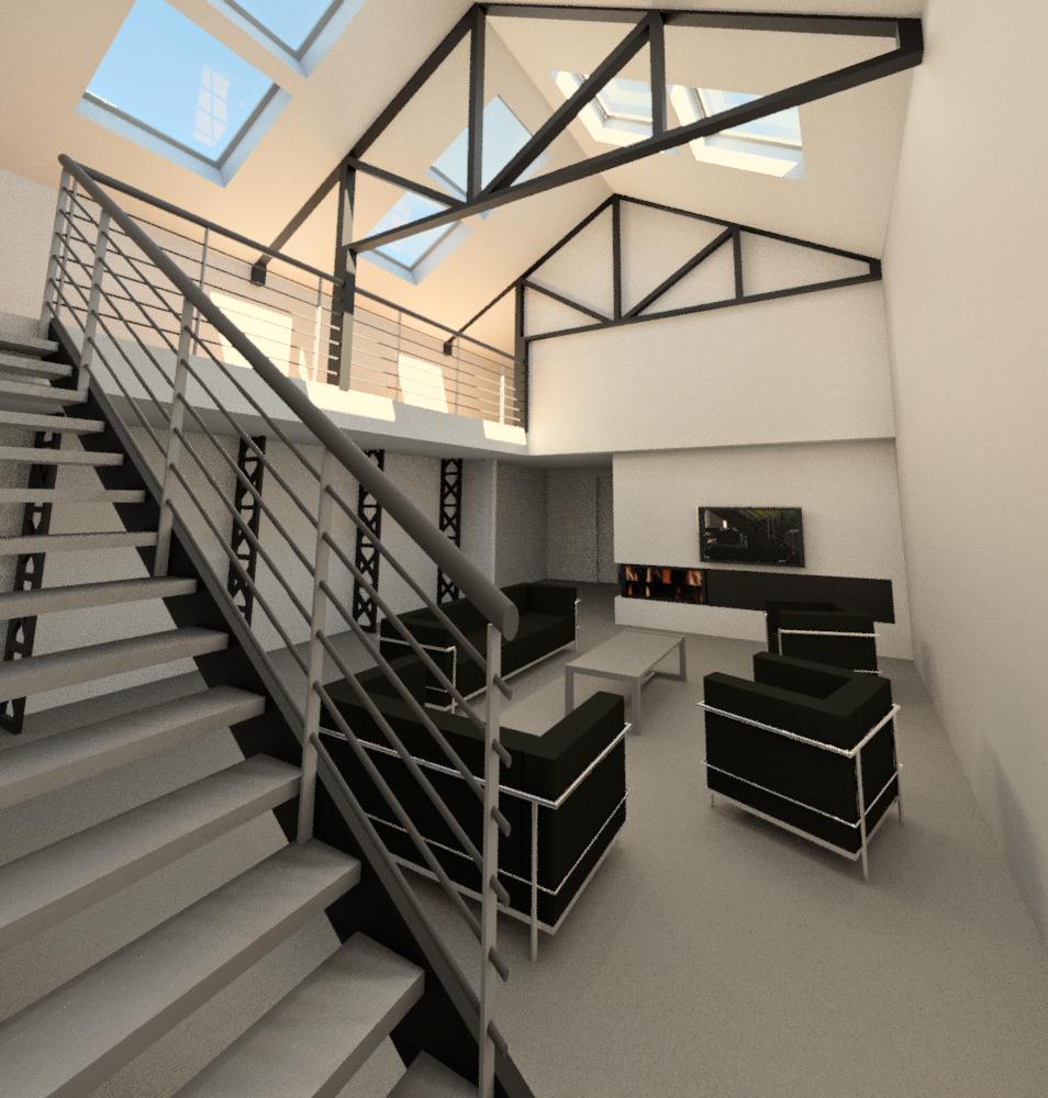 transformation d'un garage en loft a la madeleine | architecte lille