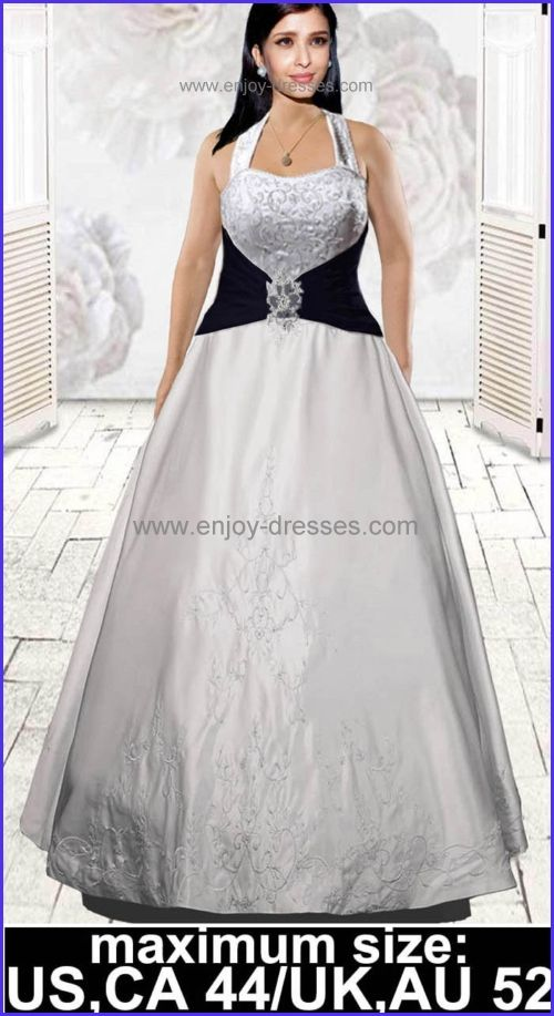 ivory black or custom color plus size wedding dresses-maximum size ...