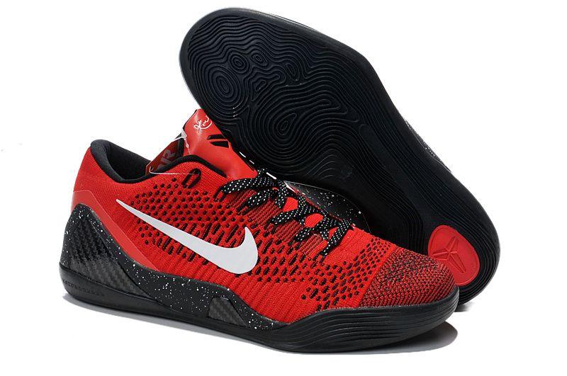 Nike Kobe 9 Em  University Red  Metallic Silver Free Shipping